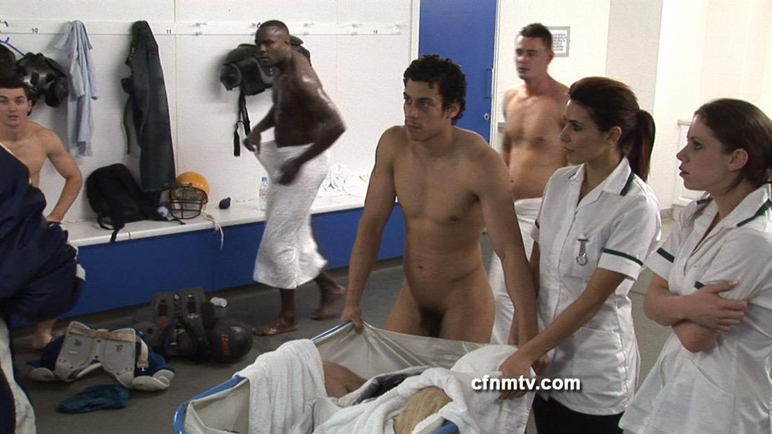 Gay football locker room college physical