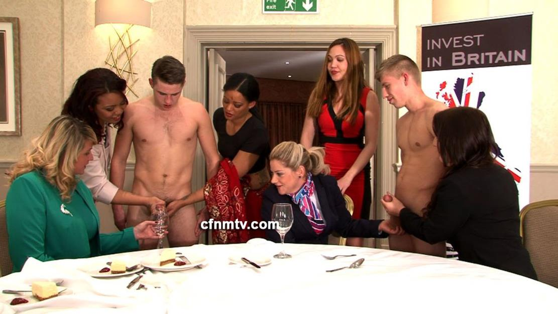 Two slaves fuck she acts bashful at first