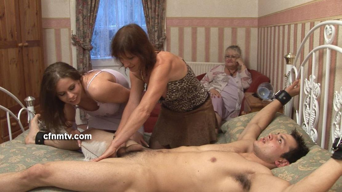 Exciting domination movie with 2 young 18yo dominatrixes