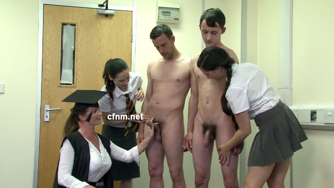 CFNM – Mr Bagshaw Wanked Off By The Ladies