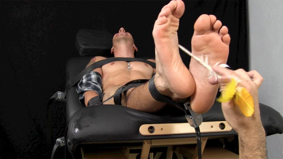 Big Muscled Viggo Strapped Down For Tickle Torture