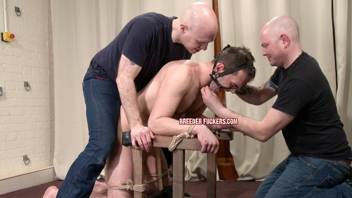 BreederFuckers – Jozef Tied Down Flogged & Fucked With A Dildo