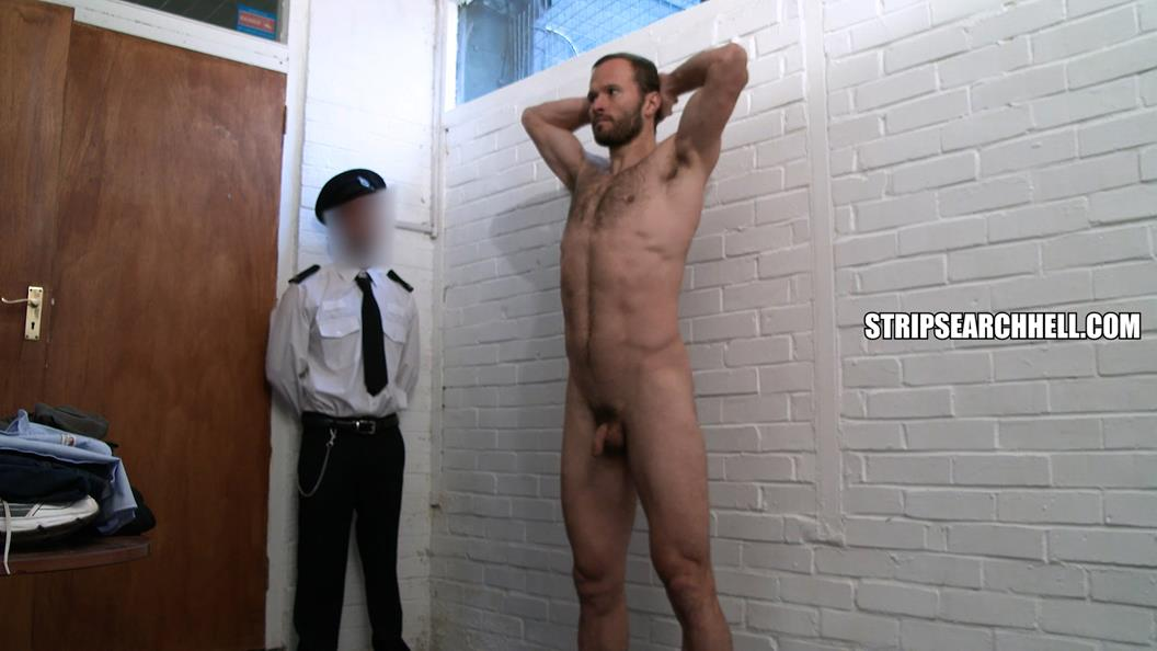 StripSearchHell – Hairy Guy Strip Searched By The Guards