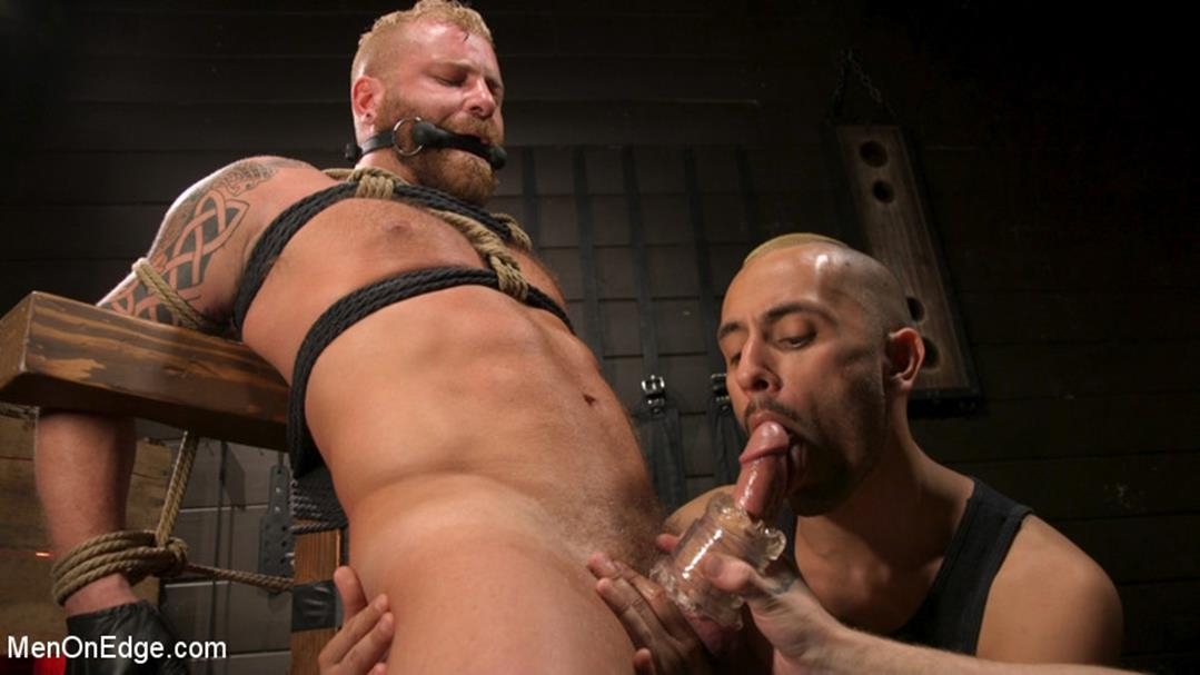 MenOnEdge – Roped In: Muscle Dom Riley Mitchell Bound and Edged