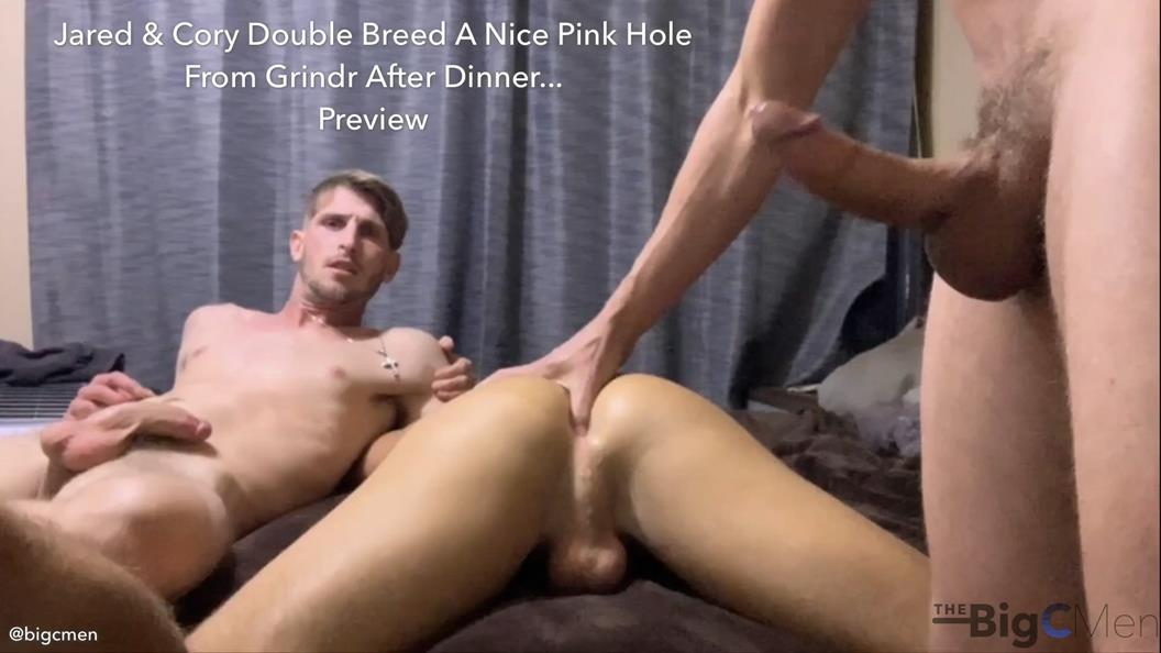 TheBigCMen – Cory & Jared Double Breed A Nice Pink Hole From Grindr After Dinner