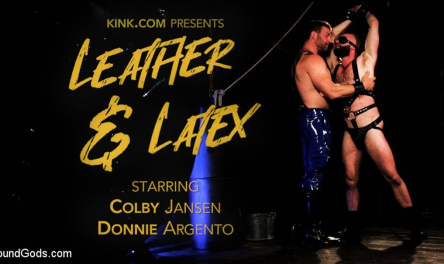 BoundGods – Leather & Latex: Muscle Stud Colby Jansen Dominates Donnie Argento