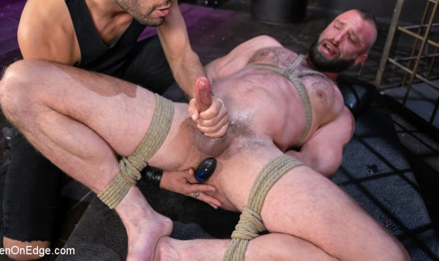 MenOnEdge – Donnie Argento Tied Up and Edged in Rope Bondage