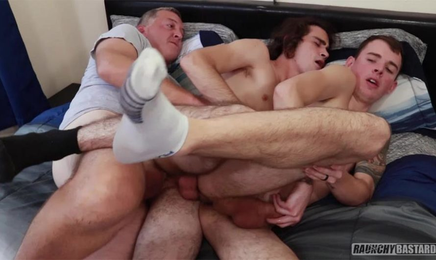 RaunchyBastards – Anal Time With Daddy – Chris Colt, Clay, Mikey Allens