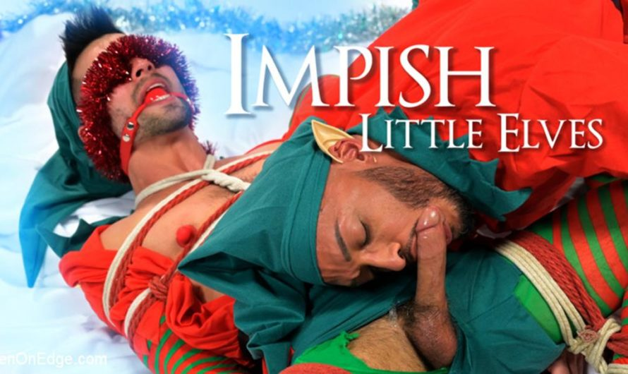 MenOnEdge – Impish Little Elves: Casey Everett Edged by Santa and his Lil Helper