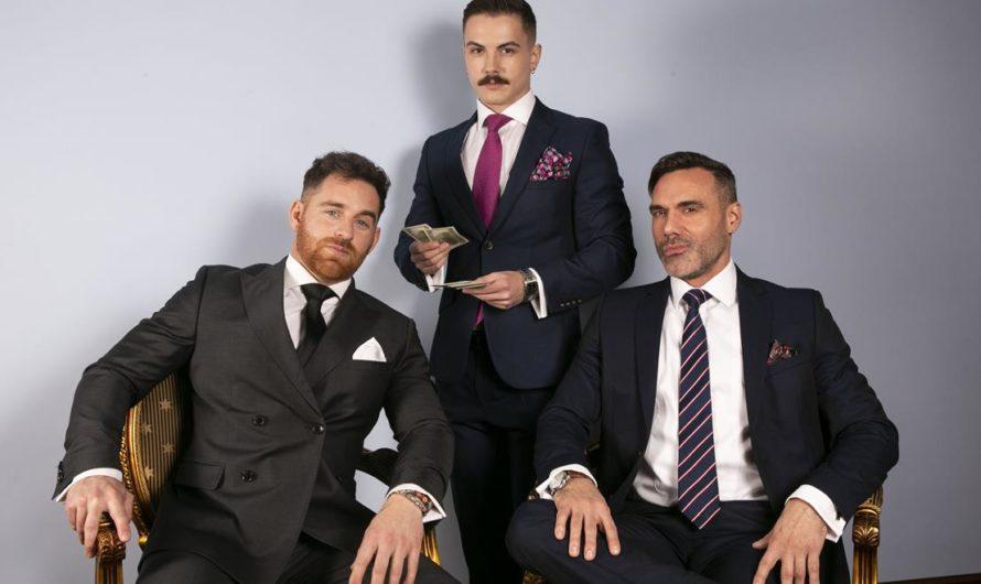 MenAtPlay – Suited Hustler – Austin Sugar, Jonas Jackson, Manuel Skye