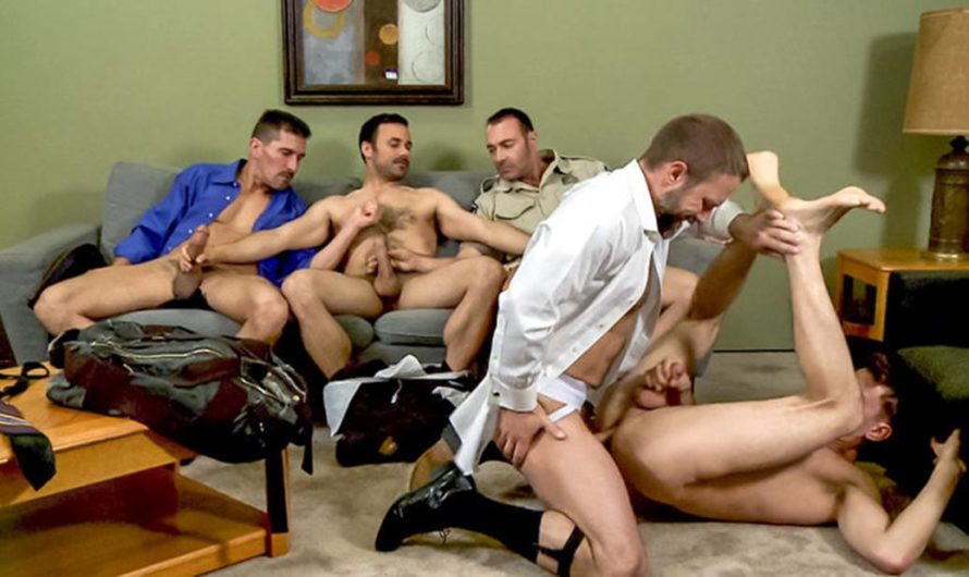 DaddySexFiles – Orgy – Every Cock In The Gang Spurts! – David Anthony, Conner Habib