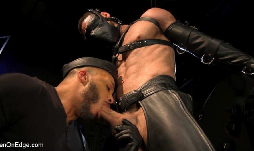 MenOnEdge – Larkin's Load – Ricky Larkin Bound in Leather, Tickled, and Drained