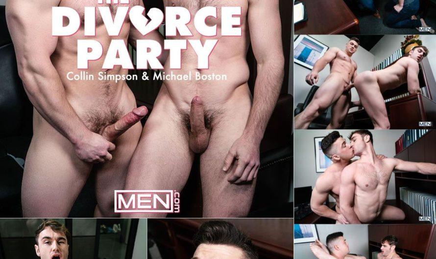 MEN.com – The Divorce Party Bareback – Michael Boston, Collin Simpson