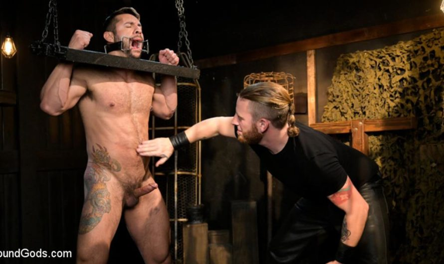BoundGods – Stocked and Cocked: Seth Santoro Beaten and Fucked in a Stockade