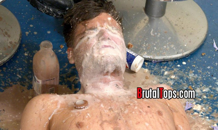 BrutalTops – Master Aaron & Master Martin Force Their Sub To Swallow Food & Spit