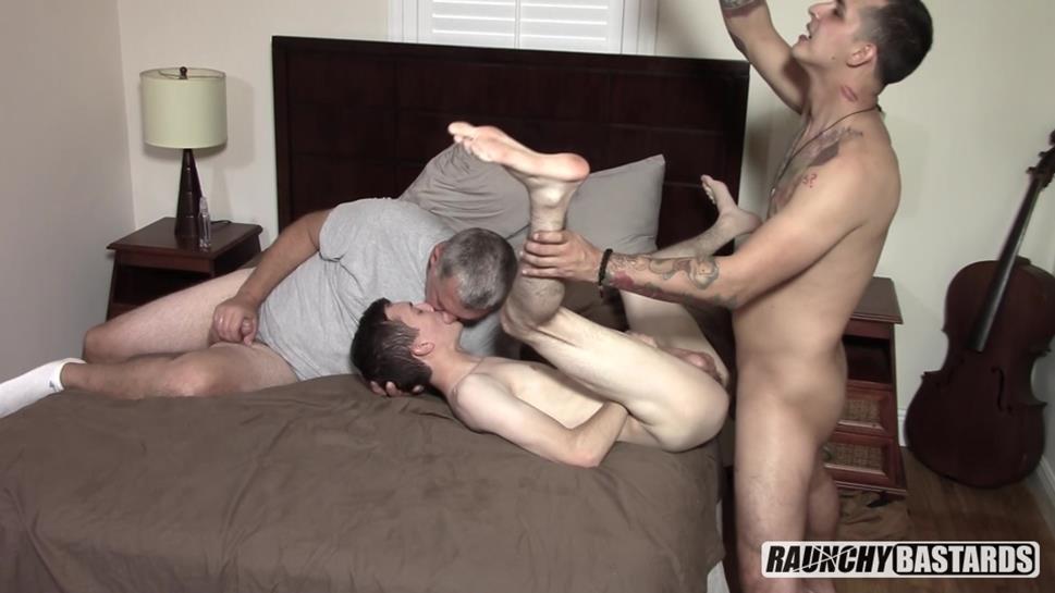 RaunchyBastards - Spit Fucked Teenage Ranch Hand - Bentley Lane, Clay, Jack Andram RaunchyBastards