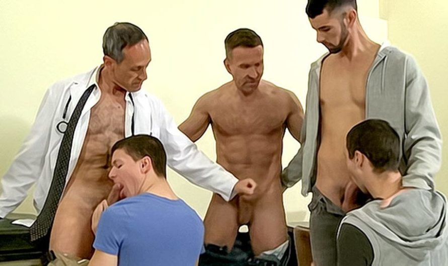 DaddySexFiles – A Cum Drenched Group Appointment – Josh Kole, Jake Steel, Tyler Sweet, Matt Sizemore & Jason