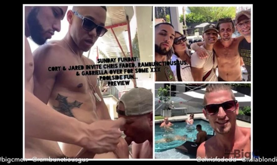 TheBigCMen – Sunday Funday: Cory & Jared Invite Rambunctiousgus, Chris Faded, & Gabriella Over For Some XXX Poolside Fun