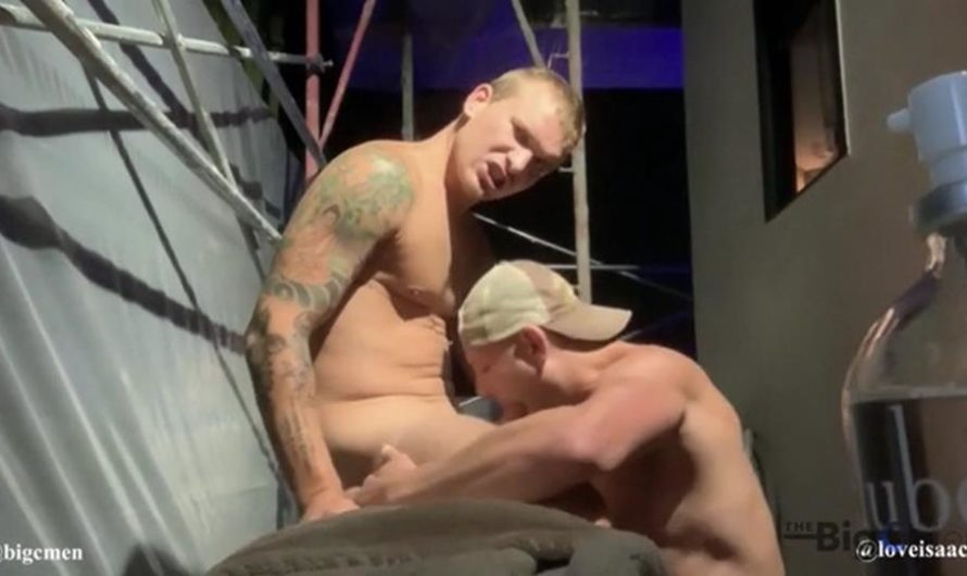 TheBigCMen – Isaac & Big C Flip Fuck Outside On The Construction Scaffolding