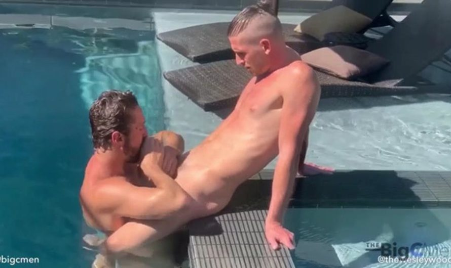 TheBigCMen – Superstar Wesley Woods Sucks A Load Out Of Jared In The Pool