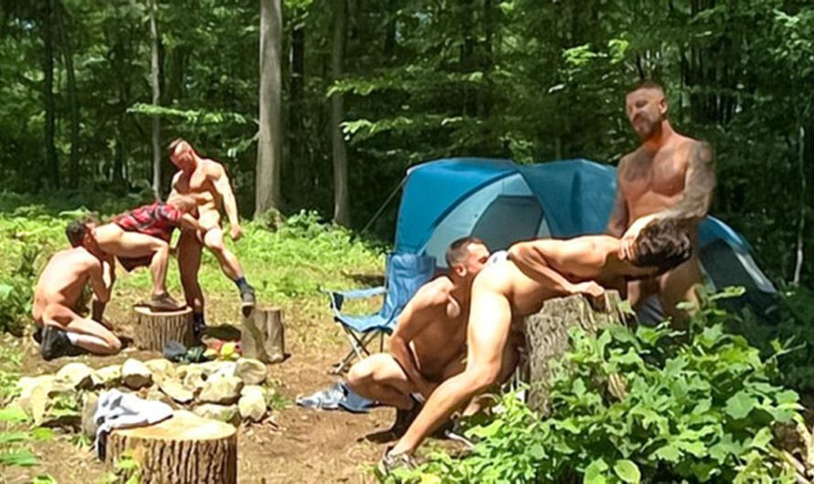 DaddySexFiles – Campsite Cock Hungry Orgy – Brenner Bolton, Rocco Steele