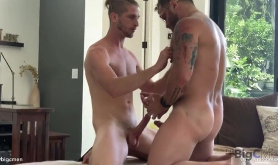 TheBigCMen – Pornstar Riley Mitchell Comes Over With A DL Bud For Cory & Jared's Morning Dick