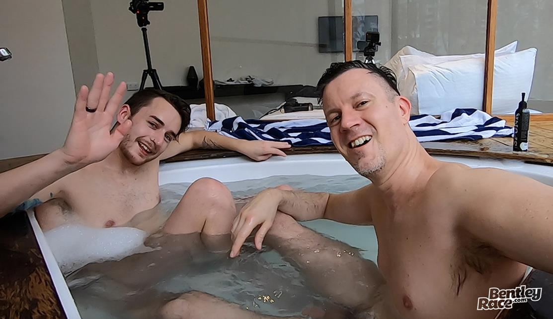 BentleyRace - Getting my sexy mate Nate Anderson off in the hot tub BentleyRace