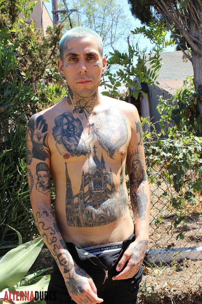 AlternaDudes - Tatted Punk Sucks Monster Cock AlternaDudes