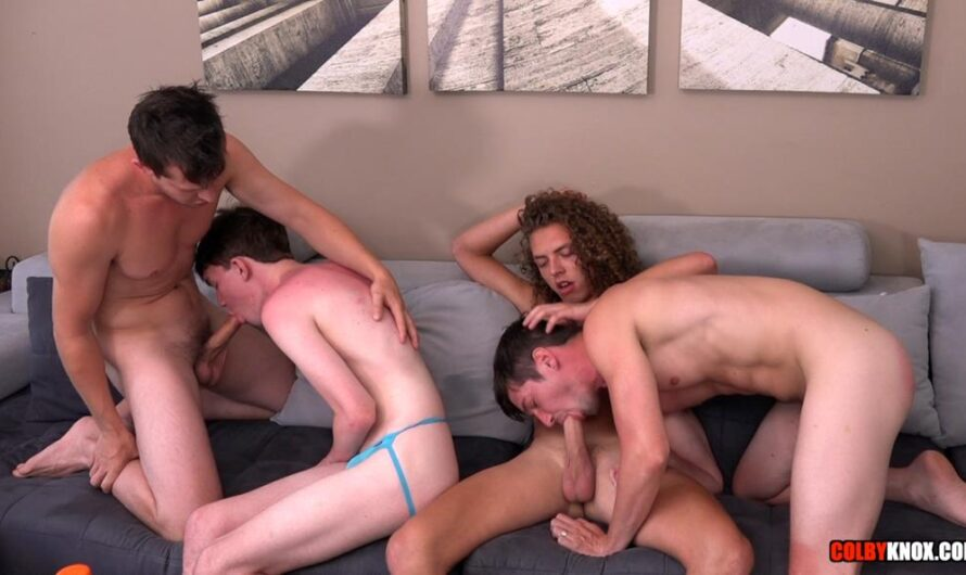ColbyKnox – Hot 4-Way – Colby Chambers, Jack Valor, Levi Hatter, Mickey Knox