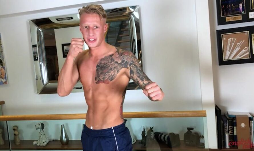 EnglishLads – Straight & Ripped Muscular Boxer Returns to Wank his Monster Uncut Cock & Squirt Hard! – Jake Campbell