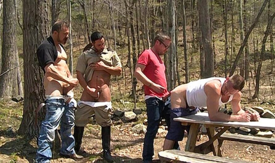 DaddySexFiles – Tourist Gangbang In The Woods – Hans Berlin, Andrew Fitch