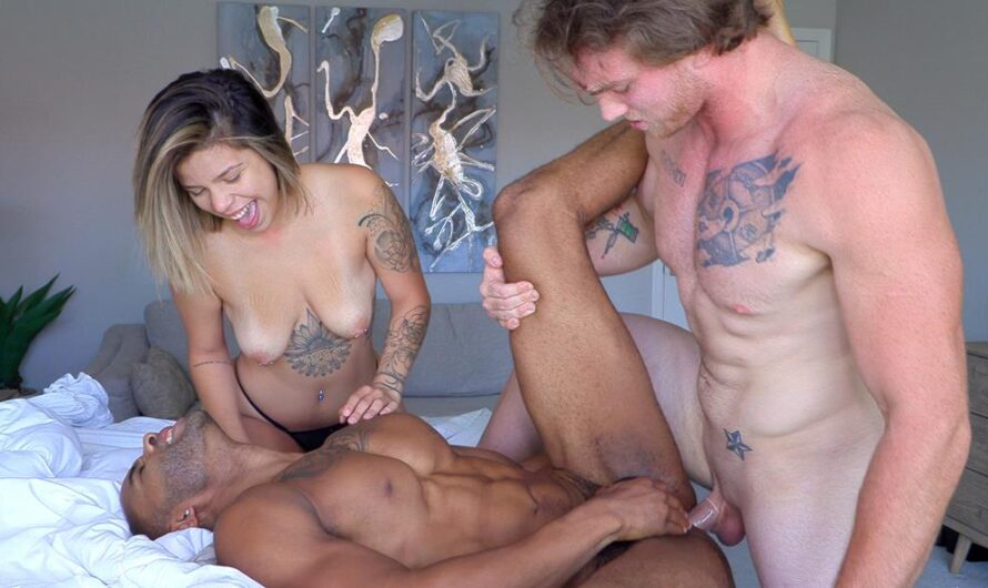 BiGuysFucK – Gym jock Dustin Reynolds bamboozled into a sex-game with Meghan Taylor and GBF Marcus VonRyder!